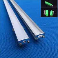 10 40pcs 1m 40inch aluminum profile for led strip,milky/transparent cover for 12mm 5050 5630 strip with fittings