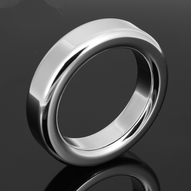 Male Metal Cock Ring 6mm 9mm Thicken Stainless steel Penis Delay ring Inner diameter 38 41 44 47mm Optional G7-1-27