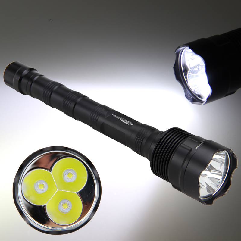 Aluminum 3800lm Tactical Flashlight TR-3L2 LED Hunting Torch 1 Memory Mode Switch on Tailcap Lantern