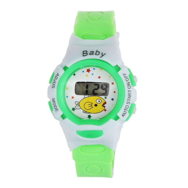 Fashion Cut LED WatchDouble Display Boys Girls StudentsTime Electronic Waterproof Digital Dial Sport Wristwatches Watches 40P