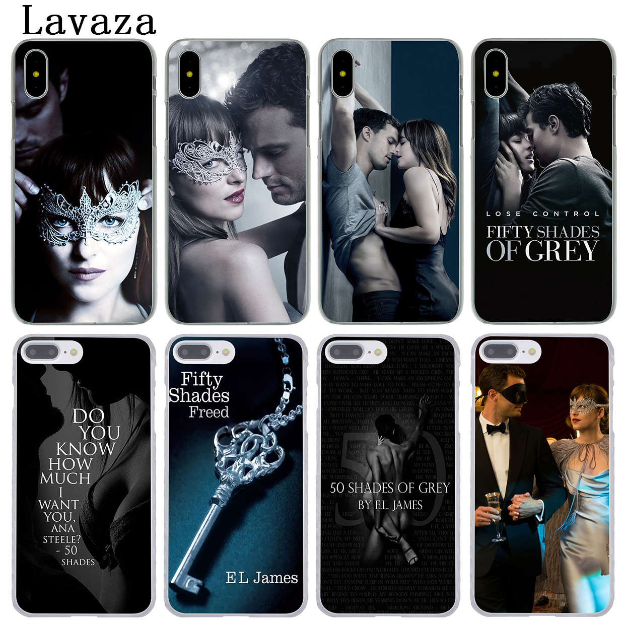Lavaza Fifty Shades Darker of grey freed Hard Phone Coque Shell Case for Apple iPhone X 10 8 7 6 6S Plus 5 5S SE 5C 4 4S Cover