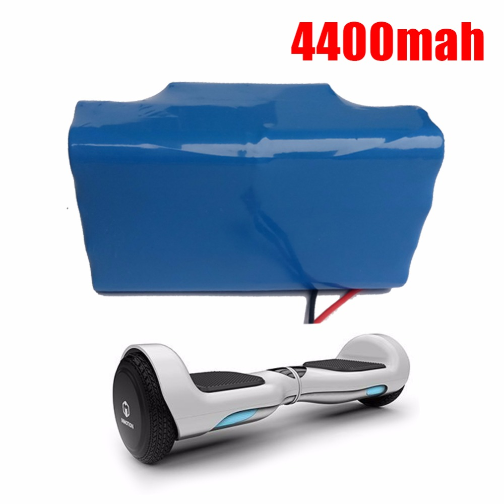 36V rechargeable li-ion battery 4400mah 4.4AH cell (18650 10S2P) for electric self balance scooter vehicle monocycle unicycle