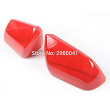 Pair Red ABS Exterior Side Rearview Mirror Decoration Cover Trim For USA Version Ford Mustang 2015 2016 2017 Car Styling