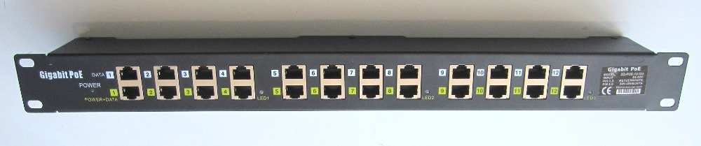 Multiport Gigabit POE Injector midspan 1000Mbps POE Patch Panel for WiFi Access Point office network upgrade