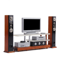 oMoToys 1:12 scale Dollhouse TV Cabinet Loudspeaker Sound system Set with DVD Player and Subwoofer Miniature Furniture