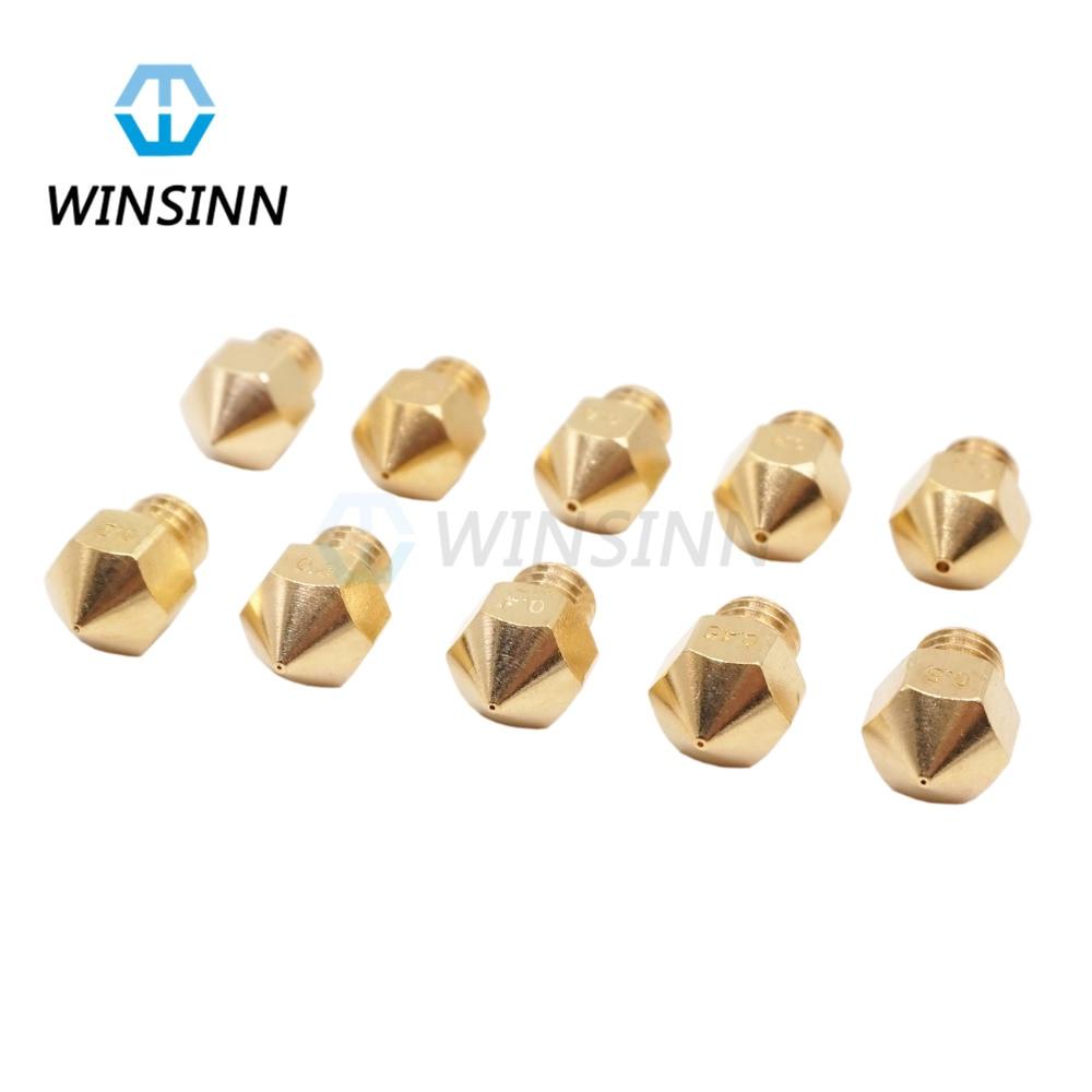3D Printer MK8 Copper Brass Nozzle 0 2 0 3 0 4 0 4 0 5
