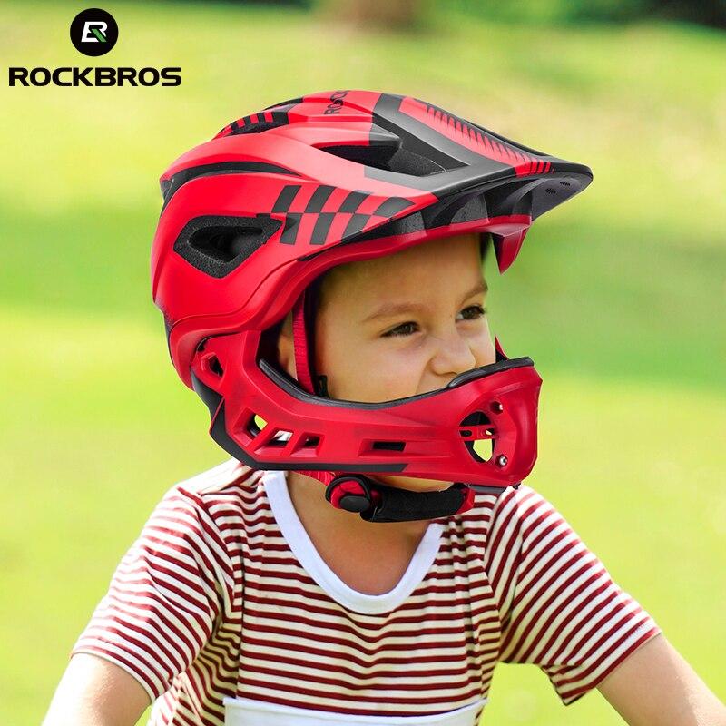 ROCKBROS Bici di Riciclaggio Tipo Casco Integrale Coperto Bambino Casco EPS Parallelo Auto Dei Bambini Del Casco 2 In 1 Sport di Sicurezza di Guida caschi