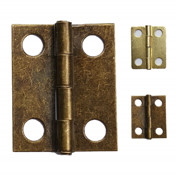1000pcs Bronze Antique mini small Brass Hinges  for jewelry boxes 360 degree Wooden Furniture Accessories Hardware Wholesale