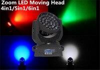 2X 36x12W 36x15W 36x18W 4in1 5in1 6in1 Zoom Led Moving Head Light RGBWA UV DMX512 Led Moving Head Wash Beam Effect Light