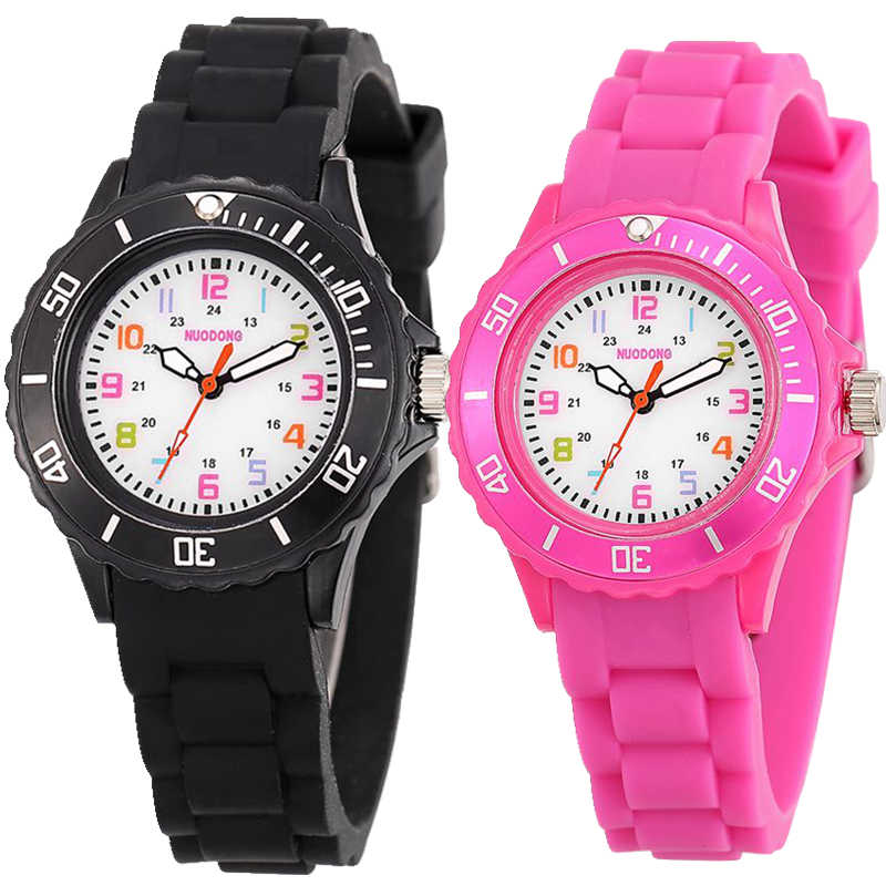ff6228c41c13b kids boys girls children jelly candy silicone rubber watches fashion casual  students colourful face quartz gift
