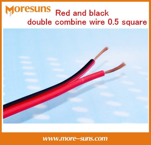 Free Ship 20M/lot Red And Black Double Combine Wire 0.5 Square Pure Copper Alligator Clip Banana Head Lines And Holding Wire