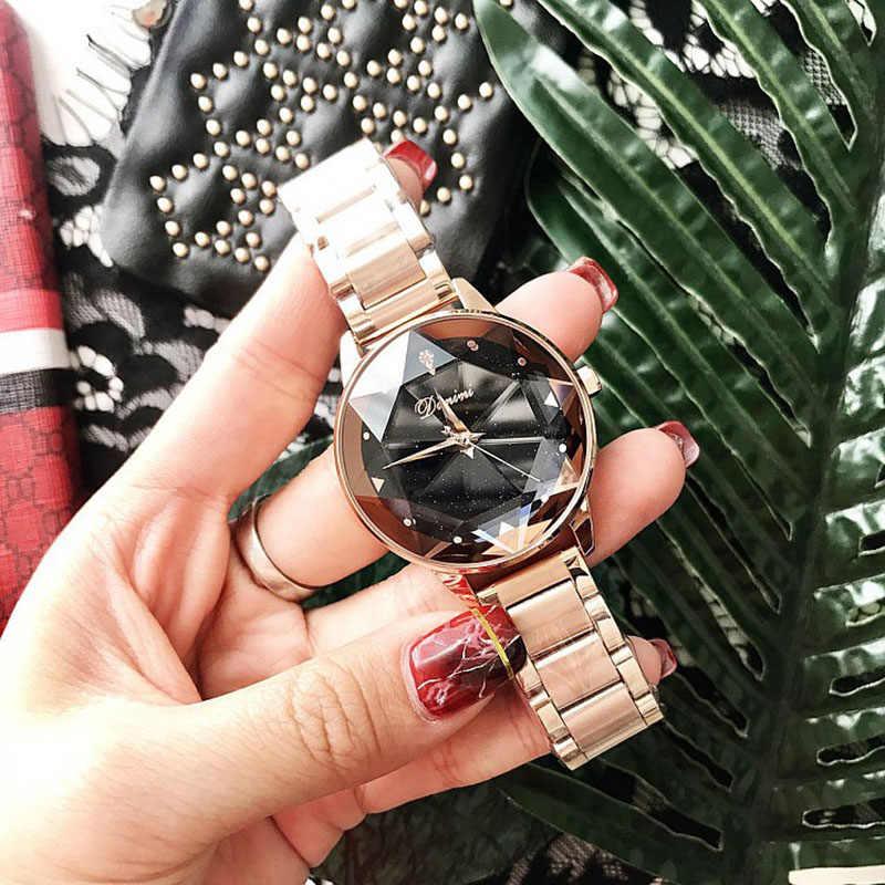Luxury Brand Ladies Crystal Watch Women Dress watch Rose Gold Quartz Watches Female Stainless Steel Wristwatches Clock 2018 Saat