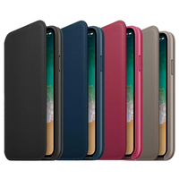 Official Original Wallet Flip Leather Case For IPhone X Phone With Back LOGO Card Slot Cover