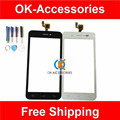 New Replacement For Wiko Lenny Touch Screen Digitizer With Tools Black White Color 1PC/Lot
