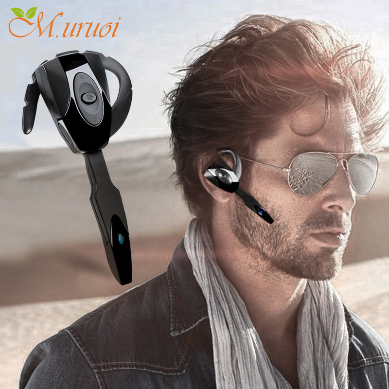 M.uruoi Wireless Bluetooth 4.1 Headphone With Microphone Earphone Bluetooth Handsfree Mini Ear Hook Headset For Samsung iPhone high quality 2016 universal wireless bluetooth headset handsfree earphone for iphone samsung jun22