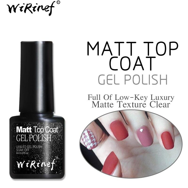WiRinef Matt Top Coat Transparent UV LED Gel Nail Polish Semi ...