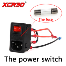 XCR3D 3D Printer Parts The power switch 220V/110V 10A Short circuit protection safety switch Power Socket the new tuning parts circuit boards