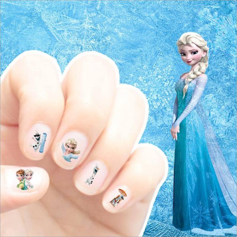 Klassische Spielzeug Selbstlos Cartoon Kinder Nagel Aufkleber Elsa Sofia Nail Art Decals Make-up Pretend Spielen Schönheit Mode Spielzeug Cosplay Party Mädchen Geschenk