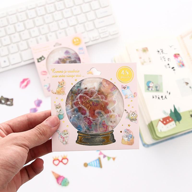 Mohamm PVC Calendar Food Flower Mini Deco Scrapbook Japanese Flakes Journal Korean Journal Stickers
