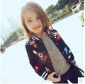 Meninas do bebê primavera outono crianças jaqueta casaco menina crianças 2016 bonito manga longa outwear marca de impressão moda