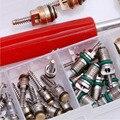 50 Pcs A/C Válvula Núcleo R12/R134A Auto Car Ar Condicionado Kit Removedor de Sortimento