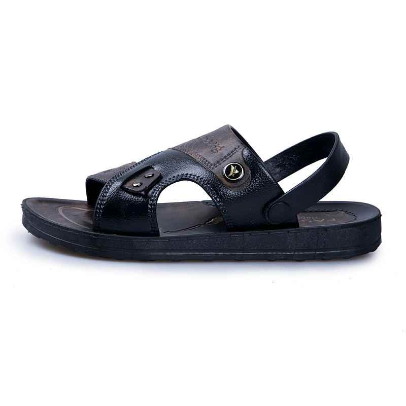 fac2edc3b102 ... MIUBU Leather Men s Sandals Fashion Leather Male Sandals Summer Men  Shoes Mens Beach Sandals 2019 Men s ...
