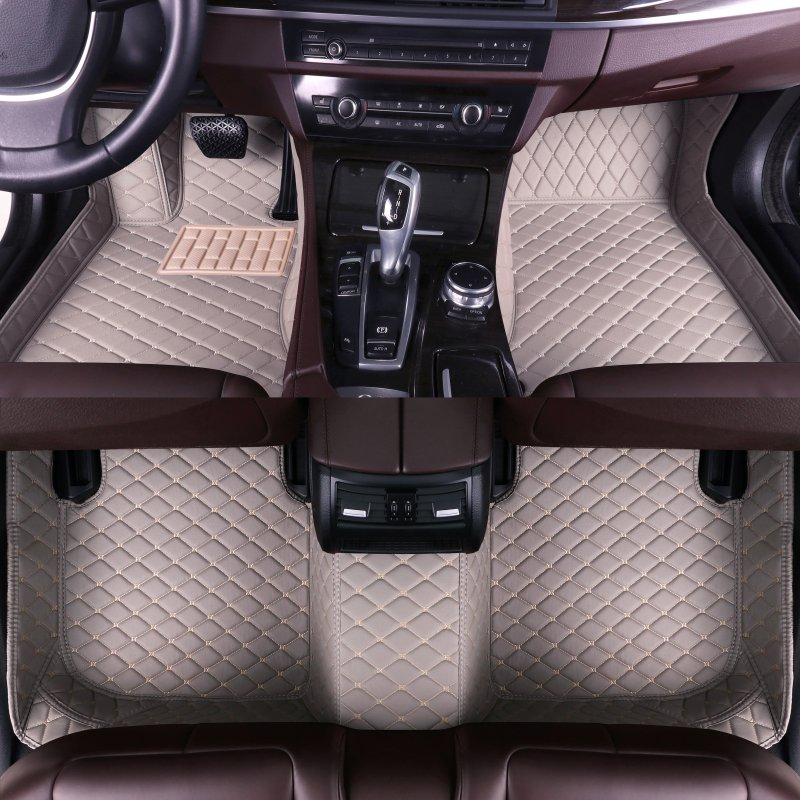 custom leather waterproof car floor mats For <font><b>Mazda3</b></font> 2006 <font><b>2007</b></font> 2008 2009 2010 2011 2012 2013 interior auto accessories car mats image
