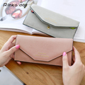 Rinka doll PU Long Wallet For Women Hasp Lock Female Purse Card Holder Woman Clutch Solid Color Wallets Q052