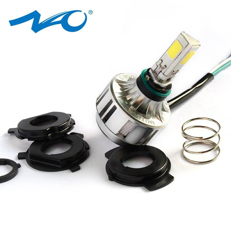 NAO H4 LED Motorcycle Headlight Bulb HS1 For gn125 flasher motos lamp for Motor Light 32W 3000LM 12V Super Light  6000K 3000K M3|lamp for -