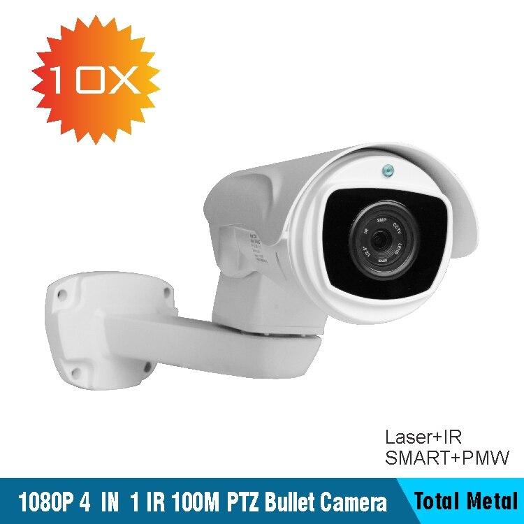 10X ahd camera 1080 p cctv CVI/TVI/AHD Color IR PTZ Bullet Camera SONY323 IP66 DWDR secret surveillance cameras