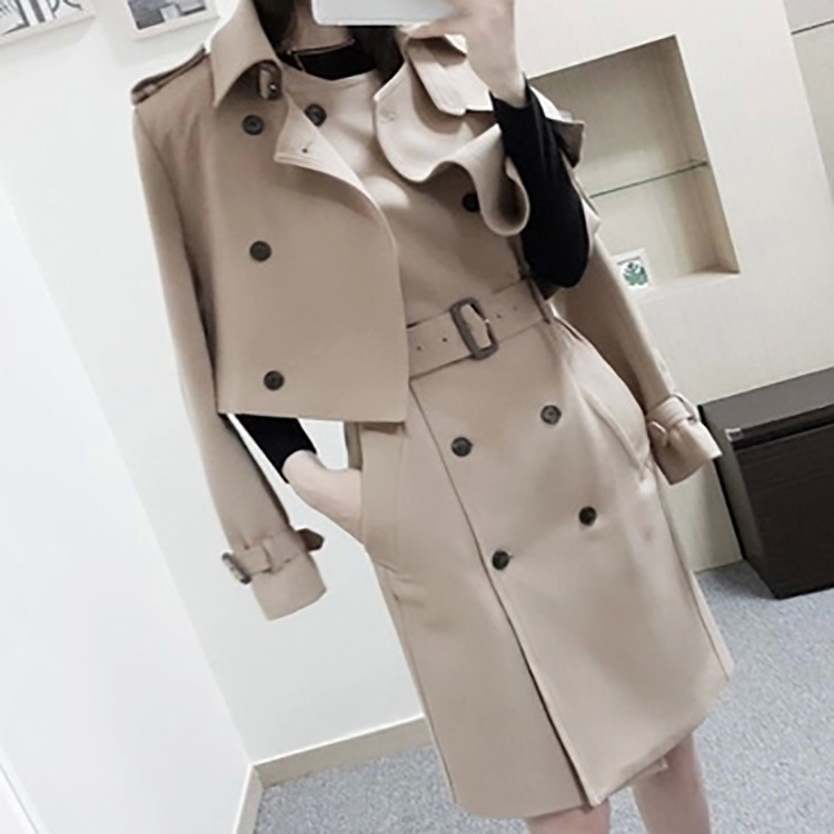 Fashion Khaki Blazers Suit Short Windbreaker Coat & Double breasted Vest Dress Set Womens Two piece Suit for Business Women-in Women's Sets from Women's Clothing    1