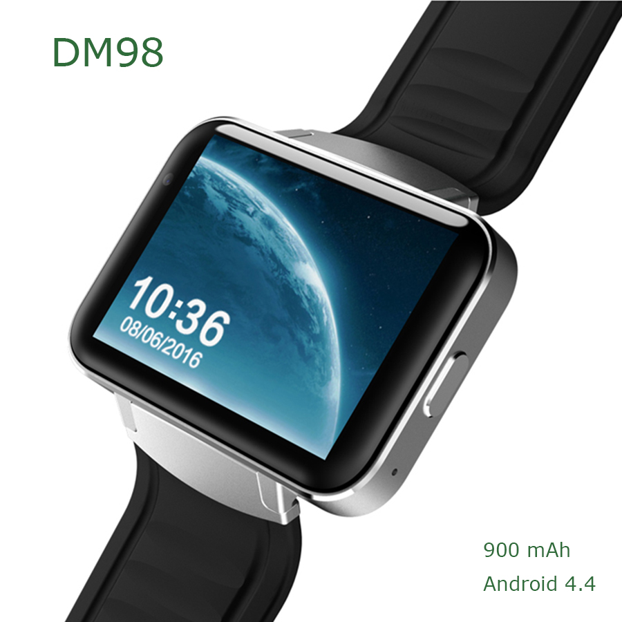 DM98 Smart Watch Android 4.4 Smartwatch Phone MTK6572 Dual Core 4GB ROM Bluetooth 4.0 3G WIFI GPS Support SIM Card Camera