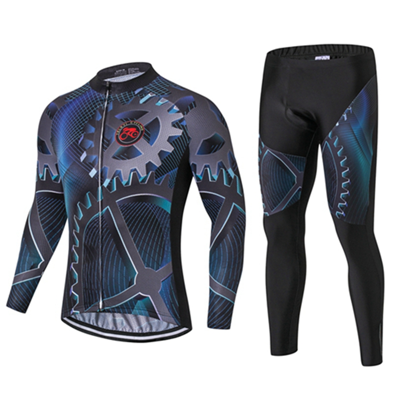 2017 Men's Ropa Ciclismo Long Sleeve Breathable Cycling Clothing 3D Gel Pad Bib Pants Sport Clothes Autumn WinterMTB Bike S polyester summer breathable cycling jerseys pro team italia short sleeve bike clothing mtb ropa ciclismo bicycle maillot gel pad