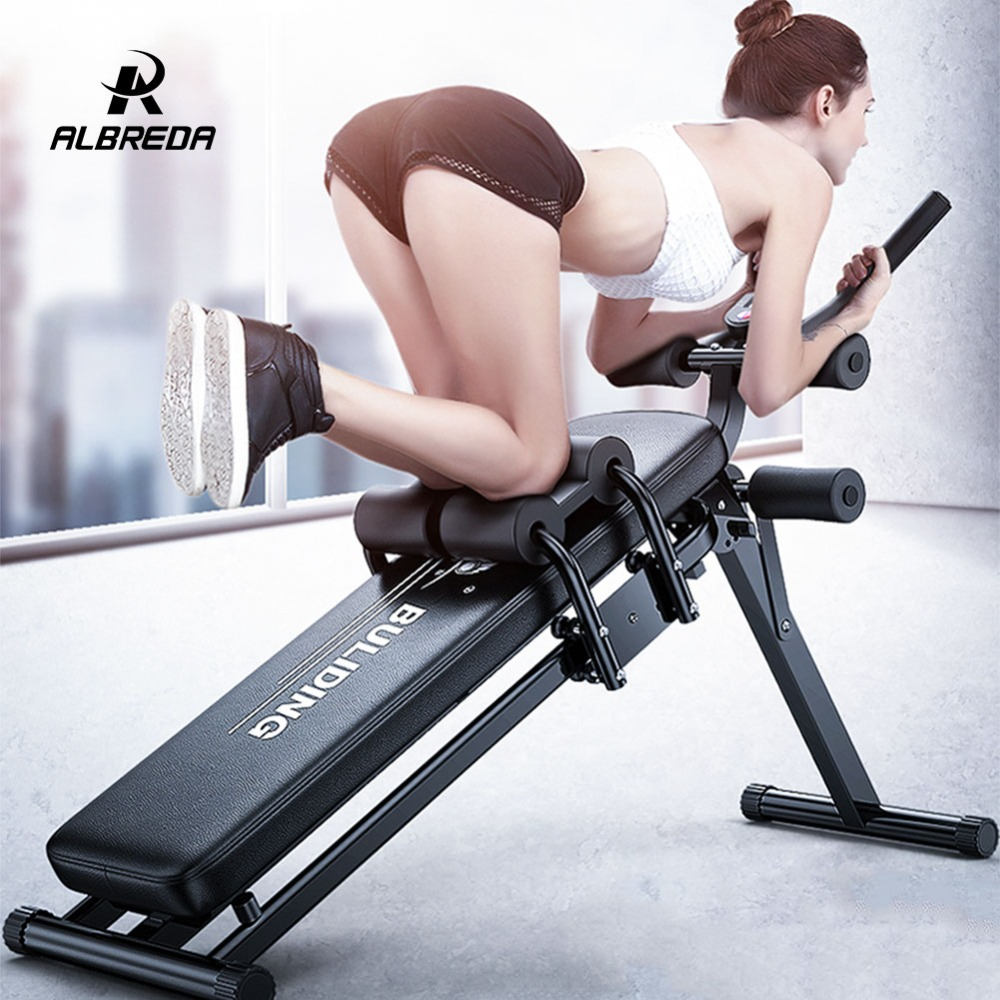ALBREDA Multifunction Fitness Machines For Home Sit Up Abdominal Bench fitness Board abdominal Exerciser Equipments Gym Training цена
