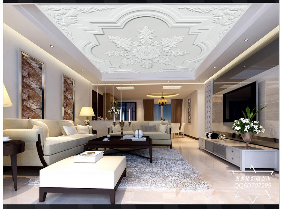 Buy customized 3d ceiling murals for Gips decor ceiling