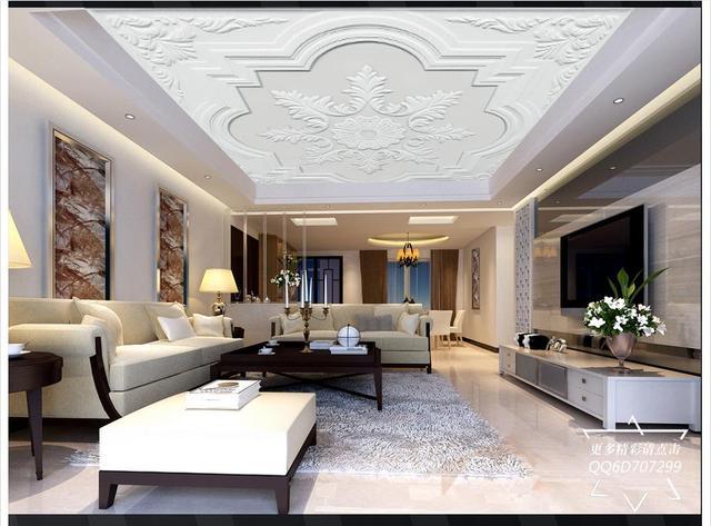 Customized 3d Ceiling Murals Wallpaper 3D Stereo Elegant Modern Simple  European Gypsum Ceiling Wallpaper For Living Part 76