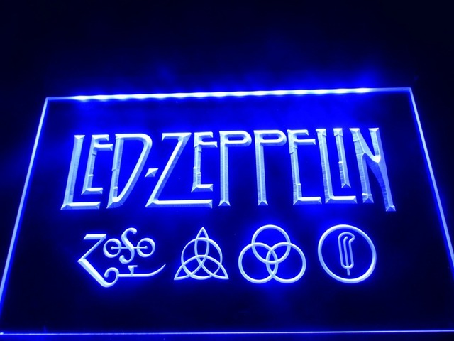 LF Zeppelin Rock N Roll Punk LED Neon Light Signin Plaques - Car sign with namesonline get cheap d led sign aliexpresscom alibaba group