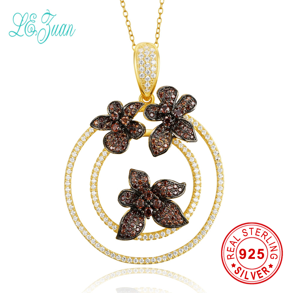 l&zuan Silver 925 Jewelry Vintage Collane Statement Necklace Round With Flower Multicolor Zircon Pendant Necklace For Women Gift цена 2017