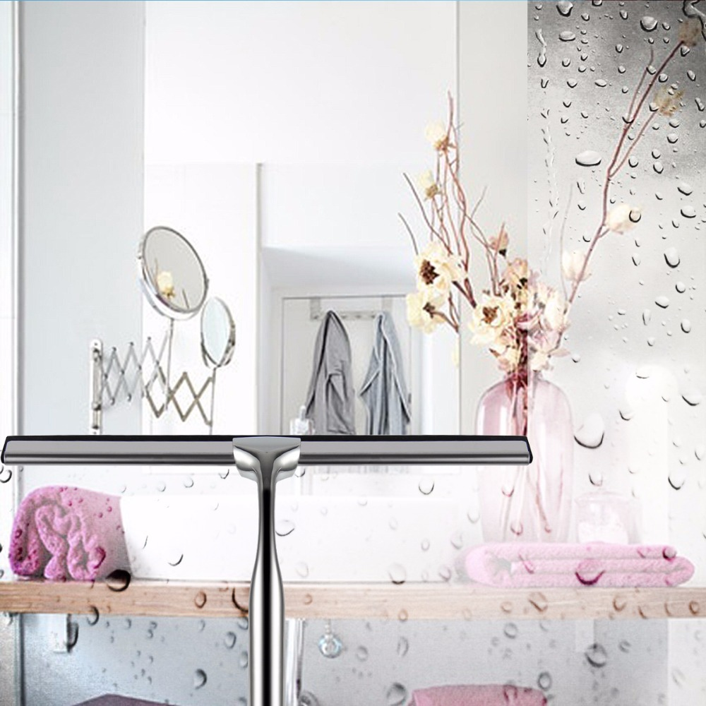 Nosii Glass Window Squeegee Cleaner Shower Bathroom Mirror Rubber ...