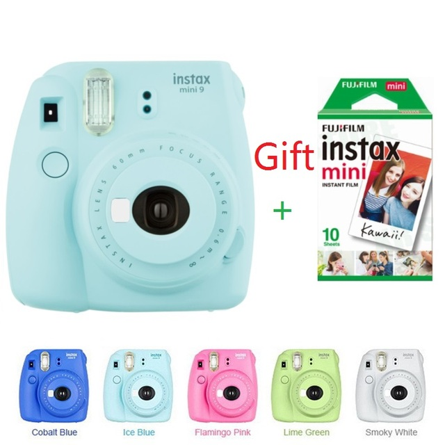 ec1a154fc05fd Fujifilm Instax Mini 9 Instant Camera for Polaroid Instant Photo Camera  Photo Camerain 5 Colors instant photocamera gift Film