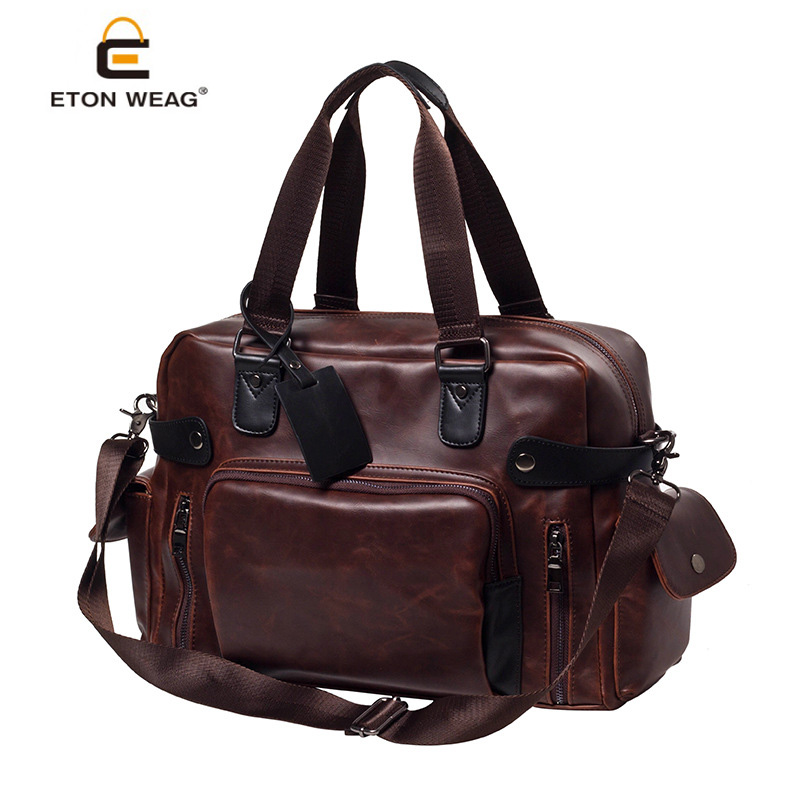 Fashion Retro men Travel Bags High-quality Brand man laptop bag Versatile sort hand travel duffle shoulder or crossbody bags