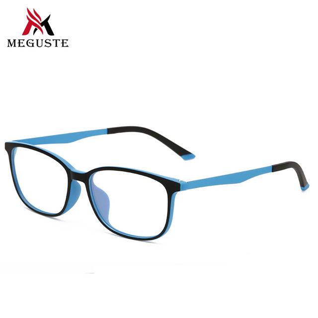 Meguste Novo 2017 Marca Designer men & Women Computador TR90 Armação de Óculos de Vidro Liso Quadro óculos de Sol Retros quadrados senhora Óptica