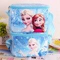 Disney Gefrorene prinzessin Elsa Anna Handschellen Diagonal Kreuz Mittagessen Taschen Bento Tasche Cartoon Lebensmittel Isolierung Pack Lunch Box für kinder