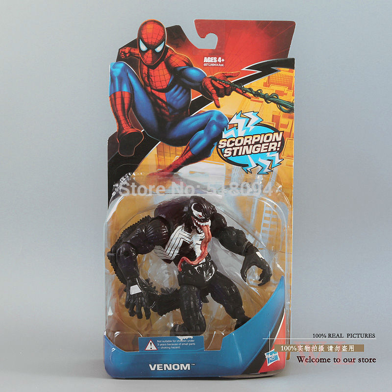 Free Shipping Marvel Universe Spiderman Venom PVC Action Figures Loose Toy 6