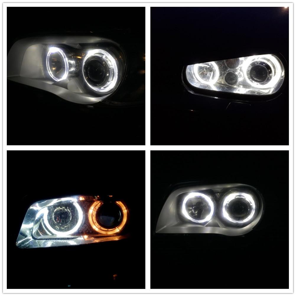 WLJH 50PCS Canbus T5 LED T4.7 W3W LED Car Auto LED Indicator Gauge Dashboard Car Light Bulb White Warm White Light source 12V