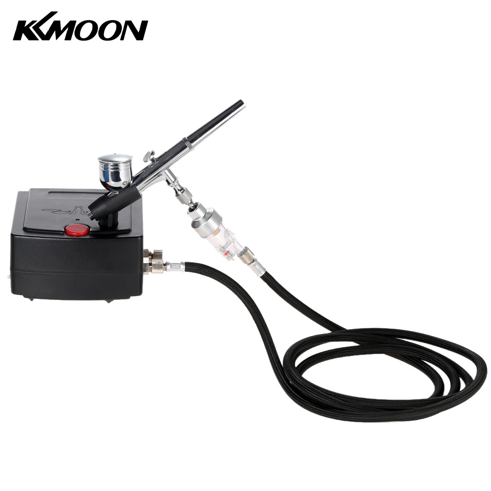 Dual Action Airbrush spray gun Air Compressor Kit aerografo pistolas for Art Painting Tattoo Manicure Cake Spray Model Nail Tool kkmoon 100 250v dual action airbrush spray gun paint gun sandblaster for art painting tattoo manicure craft cake model nail tool