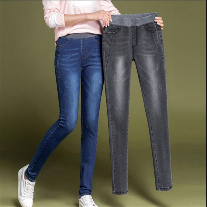 Woman Spring Plus Size Stretch Jeans Female Summer Oversize Slim Jeans Women Skinny Vaqueros Lady Fall Cotton Pencil Pantalons