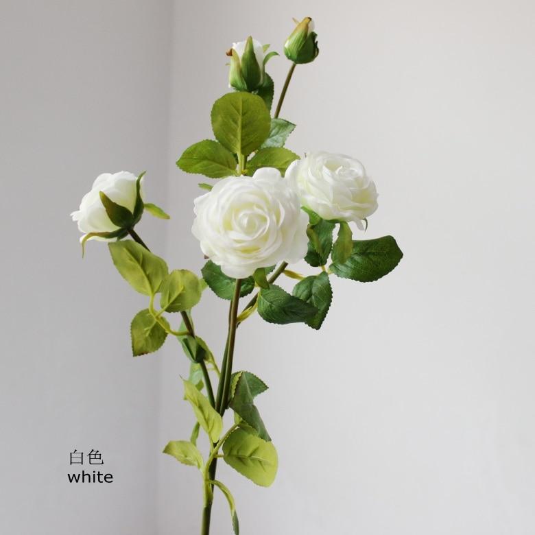 1 darab élénk mini rózsa szár selyem virágok mesterséges - Ünnepi és party kellékek