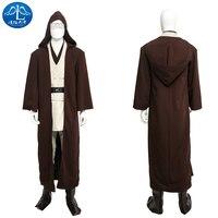 ManLuYunXiao Cosplay Costume Wan Kenobi Jedi Knight Cosplay Star Wars Obi Cosplay Costume Men Custom Made Free Shipping