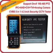 "4.3 ""HD WiFi CCTV Tester Monitor CVI TVI AHD Analógica CVBS RS485 Probador de la Cámara de 1080 P IP Onvif Hikvision Dahua Cámara prueba"